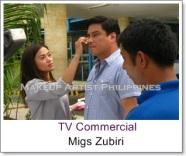 Celebrity makeup Artist in Philippines with Migs Zubiri