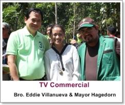 Makeup Artist Philippines- with Bro. Eddie Villanueva and Palawan Mayor Hagedorn