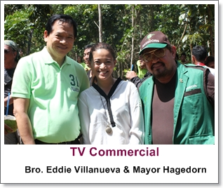 Makeup Artist Philippines- with Bro. Eddie Villanueva and Palawan Mayor Hagedorn