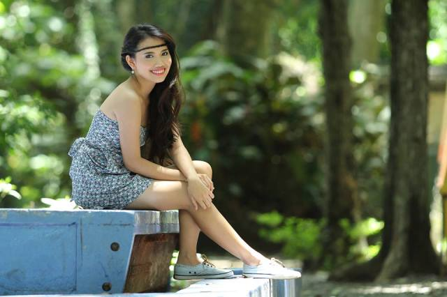 Pre debut shoot in La Mesa Eco Park