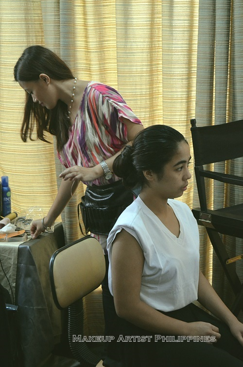 Mikee Palmera in our Makeup studio in Manila